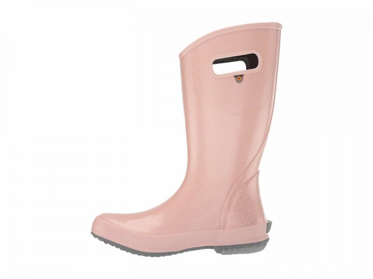 rose gold glitter rain boots
